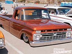 i have never understood this concept. Goodguys Annual Del Mar Nationals 1965 Front Right Old Trucks, Chevy Trucks, Custom Trucks, Custom Cars, 67 Pontiac Gto, Classic Trucks Magazine, Classic Ford Trucks, Cool Cars, Transportation
