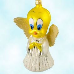 Christopher Radko Christmas Ornaments, Little Tweety Angel - Looney Tunes, 1996, 96-WBA, Retired & Ltd, Warner Brothers, Mint with Tag, Box