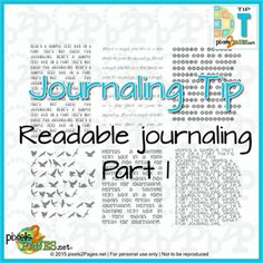 """Are you a font junkie? We have tips to help you choose just the right font for your next digital scrapbook page. Here's the first article in our ongoing series """"Readable Journaling"""", available now for pixels2Pages.net members. Love the funny examples of BAD FONT CHOICES! (Not a member? We have an awesome Free Trial.)"""