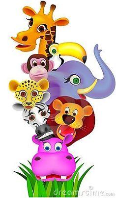 Safari Stock Photos And Images Safari Animals, Baby Animals, Cute Animals, Zebra Cartoon, Alfabeto Animal, Safari Party, Children Images, Kids Shows, Pictures To Paint