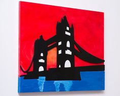 Quadri contemporanei LONDRA / QUADRO Tower Bridge / Arte in | Etsy Stencil, Batman, Superhero, Fictional Characters, Etsy, Fantasy, Stenciled Table, Fantasy Characters, Stenciling