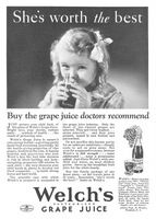 Welch's Grape Juice 1932 Ad Picture