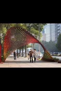 Sinuous pavilion Mexico City (coffee mugs)   http://www.evolo.us/architecture/sinuous-pavilion-in-mexico-city-built-with-1497-coffee-mugs-rojkind-arquitectos/