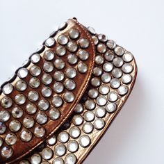 🎉 HP! Betsey Johnson - Rhinestone Clutch Stunning metallic copper clutch covered in rhinestones. Has short bronze chain shoulder strap. 💟 Offers welcome. 🙅 No trades. 🎀 Bundle for discount. Betsey Johnson Bags