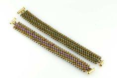 Snake Skin Bracelet made of 2.5 mm Swarovski Bicones and SuperDuos CzechMates