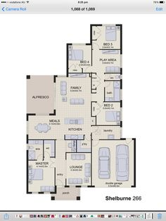 Shelburne 266 display home - Rawdon Hill Double Garage, Display Homes, Living Area, House Plans, Floor Plans, Lounge, Construction, House Design, How To Plan