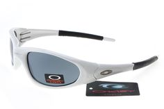Oakley Deringer Sunglasses Black White Frame Gray Lens 0199