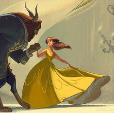 "This is a piece I did for the Gallery Nucleus exhibition ""An Art Tribute to Disney's Beauty and the Beast"" ( see all contributions HERE !)"