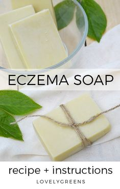 A neem oil soap recipe that combats dryness, itchiness, and inflammation making it the perfect soap for eczema. Makes six bars of all natural soap.