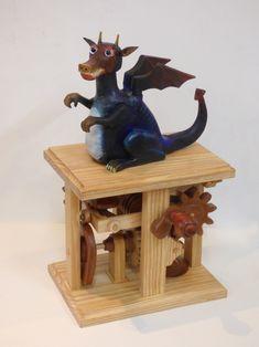 """Yorkshire Swamp Dragon"" automata by Phil Lockwood (June 2020)"