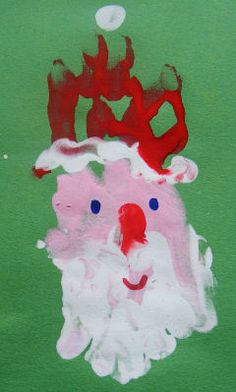 Handprint Santa - Pinned by @PediaStaff – Please visit http://ht.ly/63sNt for all (hundreds of) our pediatric therapy pins