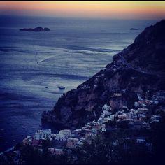 #Sunset in #Positano #AmalfiCoast