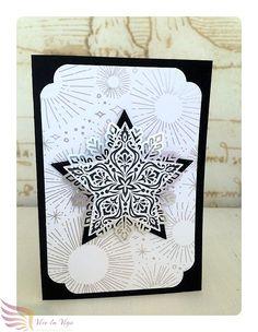 Monochrome Weihnachtskarte