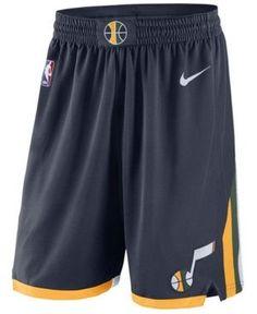 Nike Men's Utah Jazz Icon Swingman Shorts - Blue XXL