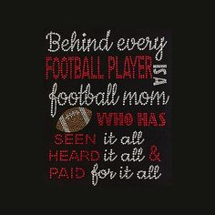 Football Behind Every Player Football Mom 10x8