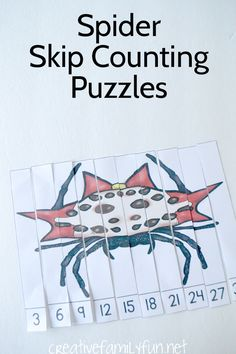 Creative Family Fun: Spider Skip Counting Puzzles