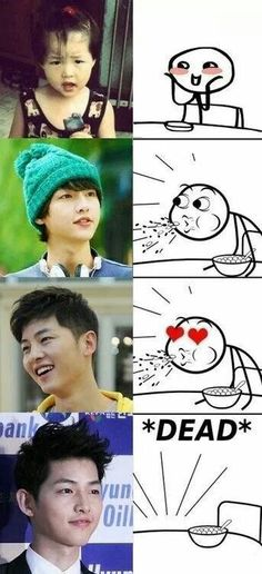 Song Joong Ki. He's an actor, but how can I ignore this attractiveness.