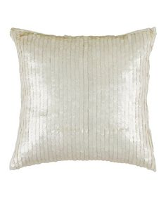 Loving this White Sequin Transitional Throw Pillow on #zulily! #zulilyfinds