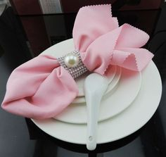 Günstige 20 stück dekorativen serviettenring für Hochzeiten serviette ring bling strass elfenbein perle startseite