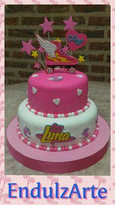 "Tortas""Soy Luna"" Sweets Cake, Cupcake Cakes, Beautiful Cakes, Amazing Cakes, Soy Luna Cake, Roller Skate Cake, Gateaux Cake, Son Luna, Girl Cakes"