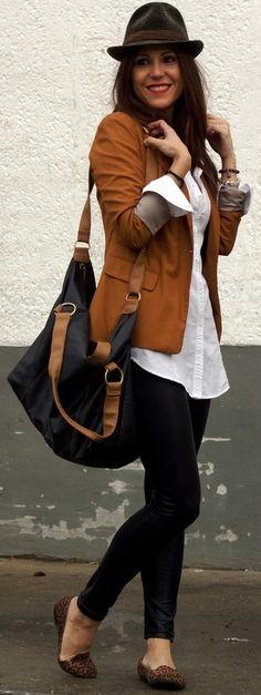 Brown Blazer fashionavenueabc