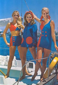 Models in beachwear from the 1960s. Photograph: Leicestershire County Council