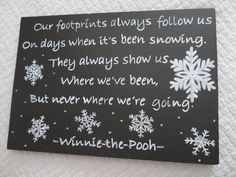 Winnie the Pooh snow quote sign by LittleTownHomeDecor on Etsy