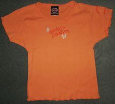 Women's Orange HARLEY-DAVIDSON Myrtle Beach SC Short Sleeve Shirt, Size S/M, GUC #HarleyDavidsonMotorcyclesMyrtleBeachSC #CrewNeckShortSleeveShirt #Casual