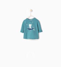 Image 2 de T-shirt à imprimé ours de Zara