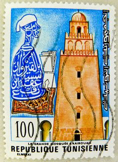 beautiful stamp Tunesia 100 by stampolina, via Flickr
