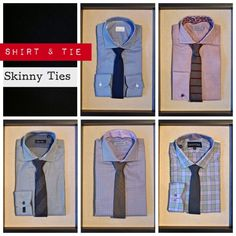 Suit Clinic Tie: $65, Mastai Ferretti Houndstooth Shirt: $145, Suit Clinic Tie: $65, Gotstyle Two Tone Glen Plaid Shirt: $185, Suit Clinic Tie: $65, Without Prejudice Woven French Cuff Shirt: $195, Amanda Christensen Tie: $95, Sand Patterned Dobby Shirt: $195, Suit Clinic Tie: $65, Without Prejudice Mini Houndstooth Shirt: $225