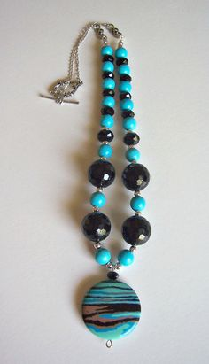 Calsilica turquoise and crystal sterling silver by starrydreams, $50.00