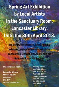 Artwork Exhibition Lancaster Library, Lancaster Art Society & Bolton le Sands Art Society