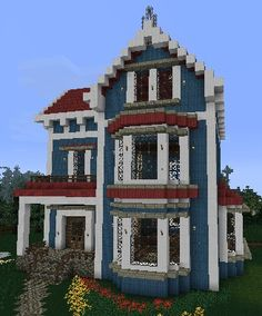 Einfaches Minecraft-Haus - Minecraft - The Dallas Media Villa Minecraft, Plans Minecraft, Architecture Minecraft, Modern Minecraft Houses, Minecraft Houses Survival, Minecraft Houses Blueprints, Minecraft Room, Minecraft House Designs, Minecraft Crafts