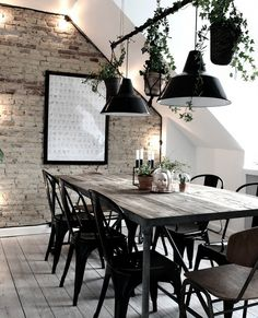 Rustique dining table inspiration for the living room #scandinavianhome #interiorinspiration #Diningroomdecorating Rooms Ideas, Style Deco, Scandinavian Home, Dining Room Design, Home Fashion, House Rooms, Home And Living, Living Room, Interior Inspiration