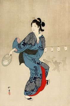 blackcoffeecinnamon:  Yukawa Shoudou (1868-?) 湯川松堂 Bon Dance in...