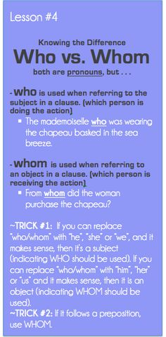 Good Grammar Is: Who vs. Whom