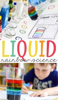 Liquid Rainbow Science is a great science experiment for elementary students to teach the density of different liquids. It is an easy experiment with a free printable. The free printable fits perfectly in your students' science notebook. Rainbow Activities, Science Activities For Kids, Science Fair Projects, Preschool Science, Teaching Science, Science Education, Science Classroom, First Grade Science Projects, Science For Preschoolers