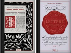 To commemorate the 150th anniversary of the Italian Republic, Rizzoli International asked Louise Fili Ltd to design the covers for Romanzi d'Italia, a series of the ten great novels that shaped the nation—from I promessi sposi to Pinocchio.