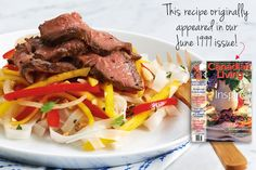 We've added sriracha and fish sauce to this grilled Thai steak with mango and pepper salad from our June 1999 issue for more authentic flair. Use freshly squeezed lime juice for the best flavour. Photography by Jeff Coulson.