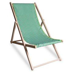 chaise longue et toile de chilienne ouaga verte design vent de bohme chez pure deco - Chaise Jardin Colore