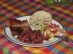 El Salvador  Carne Asada con frijoles by El Cipote, via Flickr
