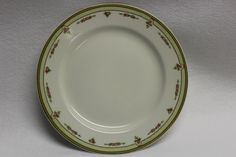 A personal favorite from my Etsy shop https://www.etsy.com/listing/463355710/white-china-plate-with-pink-green