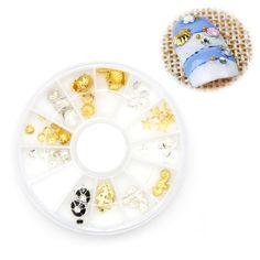 $1.99 Find More Rhinestones & Decorations Information about 1Box Gold Silver Metal…