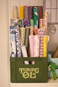great storage idea from here: http://lystadsvingen.blogspot.com