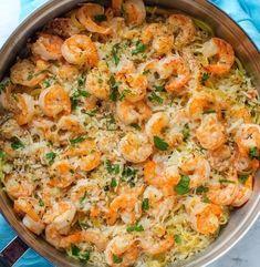 Garlic Parmesan Shrimp Scampi Pasta! | 1000 Healthy Shrimp Scampi, Garlic Shrimp Scampi, Pasta Scampi, Scampi Sauce, Shrimp Linguine, Seafood Pasta, Shrimp Recipes, Pasta Recipes, Dinner Recipes