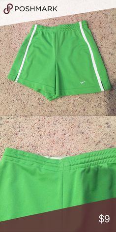 Nike Athletic Shorts Drawstring. Some of the tightness of the elastic has come out on one side of the back. It doesn't really feel any different but it looks a little different. Nike Shorts