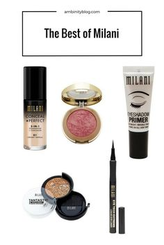 Top Cruelty-Free Brands at the Drugstore.   NYX, ELF, Ecotools, Milani, Wet N Wild.   Top Milani Products