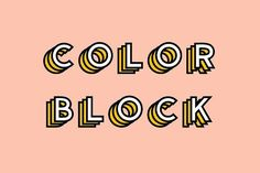 Color Block - Colored Font by The Routine Creative on @creativemarket