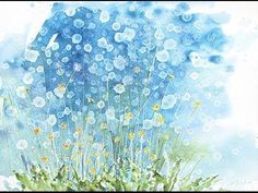 """How to watercolor: Even More dandelions!! Large format 22""""x30"""""""